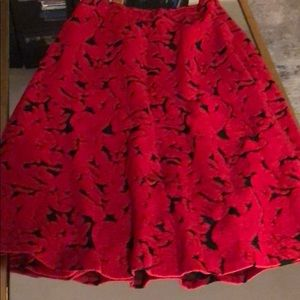 Lord & Taylor 424 Fifth red and black circle skirt